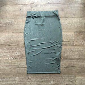 NWT ReVamped Grey Bodycon Skirt